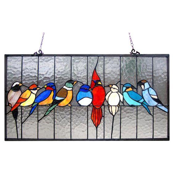 Tiffany Featuring Birds Cage Window Panel