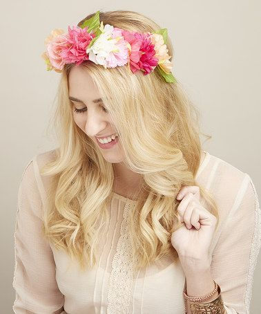 This Pastel Peony Halo Headband by Mia Beauty is perfect! #zulilyfinds