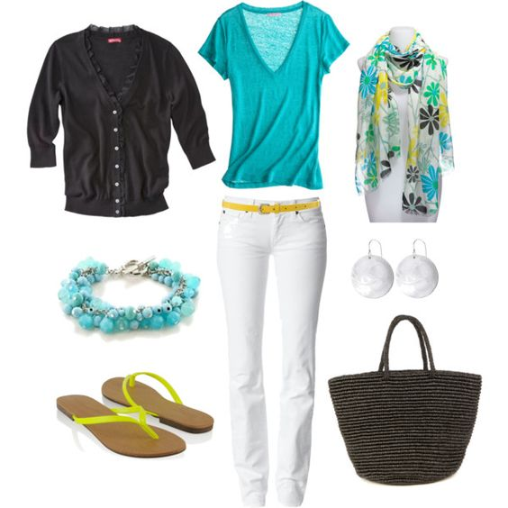 Bright and Casual: Nice Outfit, Outfit Idea, Summer Outfit, Spring Summer, White Pants, Spring Outfit, White Jeans, Bright Colors