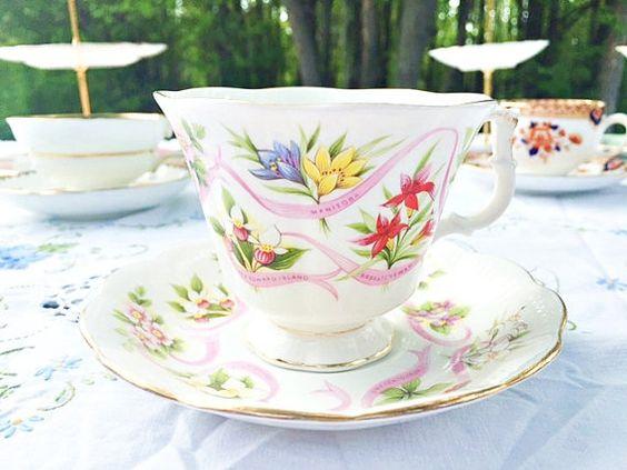 Royal Albert Canada Our Emblems Dear Teacup: by treasuresfromtheuk