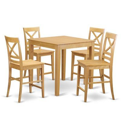 5 Piece Counter Height Pub Table Set | Wayfair