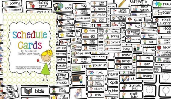 FREE visual daily schedule cards to print that are super cute. 46 pages of different learning activities you are doing.