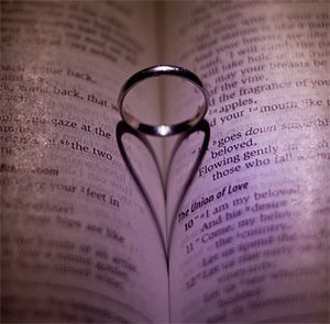 Ring in a book - perfect for a wedding.