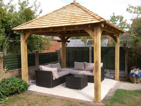 Oak Gazebo 5 | Gazebo | Pinterest | Garden Gazebo, Gardens And Garden Ideas
