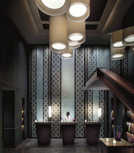 Spa reception lounge 5 star luxury resorts in krabi for Design hotel 5