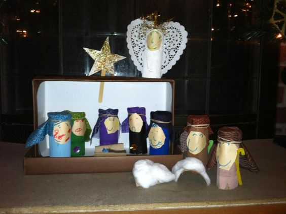 Shoe Box Nativity And Cheap Christmas Decorations On