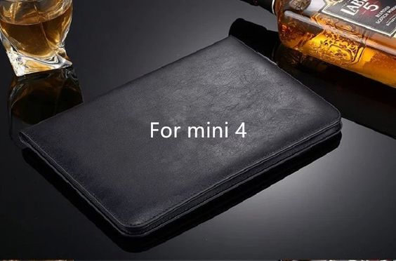 Luxury leather cover stand case for iPad mini 1/2/3 mini 4 high quality Leather funda for iPad mini 1/2/3/4