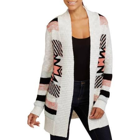 No Boundaries Juniors Aztec Cardigan , Walmart.com