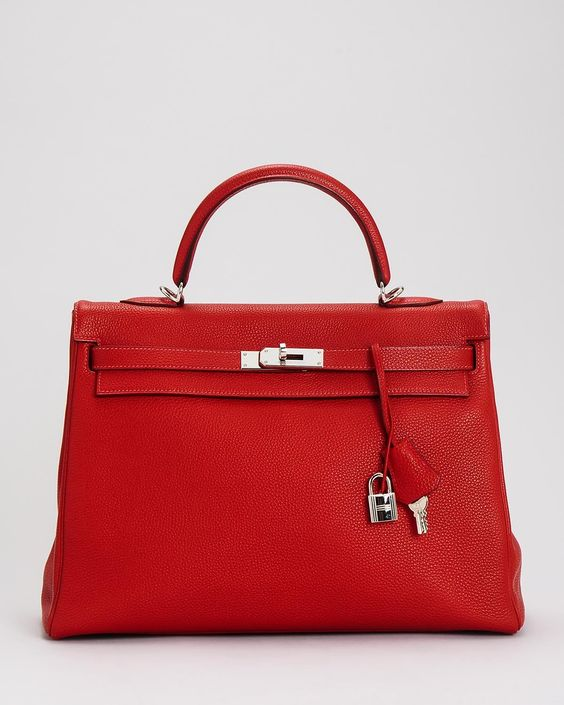 This is a highly desirable bag in France. This is the Hermes Kelly ...