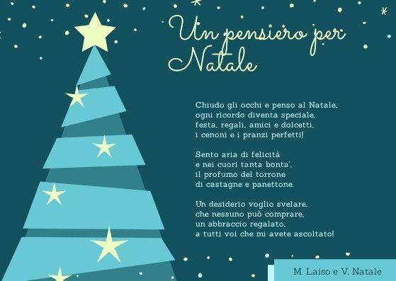 Poesie Di Natale In Rima.Poesia Un Pensiero Per Natale Natale Bambini Della Scuola Filastrocche