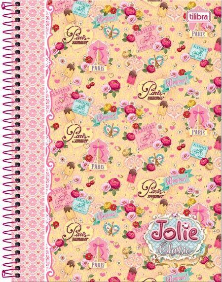 Caderno Espiral Universitário 1 Matéria Jolie Classic 96 folhas