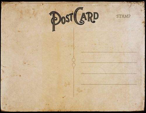 Vintage Postal Charm Vintage postcards, Invitation templates and - postcard format template