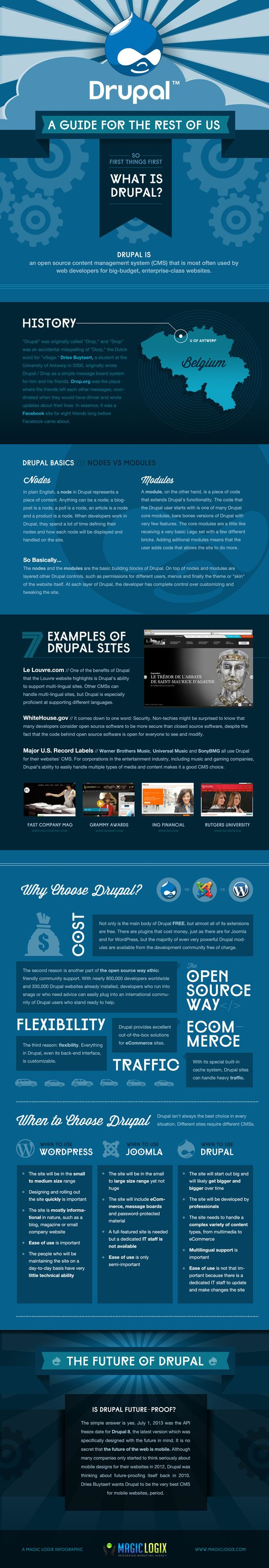 #Drupal: A Guide For The Rest of Us #infographic