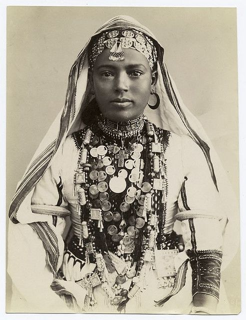 Egyptian woman in ceremonial dress, ca. 19th century