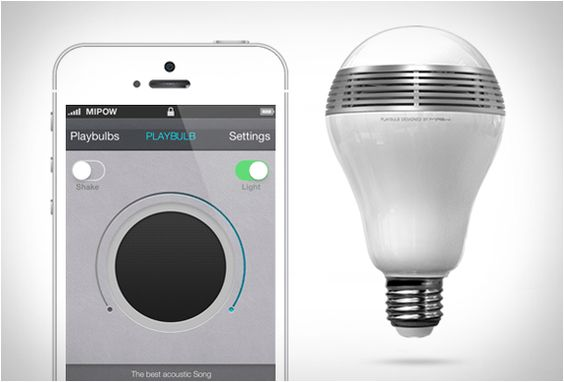 Playbulb - Bluetooth speaker + light bulb $90 #gadget