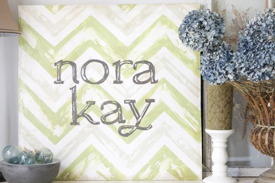 vintage inspired chevron sign: Baby Names, Vintage Chevron, Baby Name Signs, Diy Crafts, Baby Girl, Baby Room, Chevron Wall Art, Diy Projects, Chevron Signs
