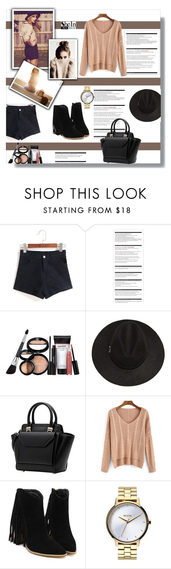 """""""SheIn 8 (7)"""" by penny325 ❤ liked on Polyvore featuring Arche, Laura Geller, Nixon and Sheinside"""