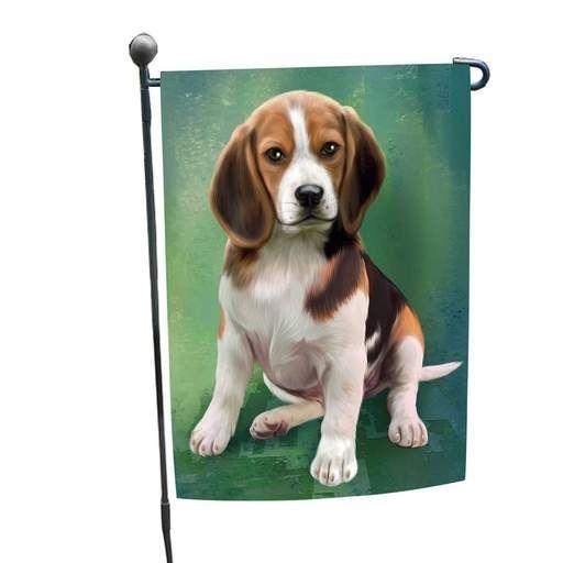 Beagle Dog Garden Flag, Beagle Garden Flag