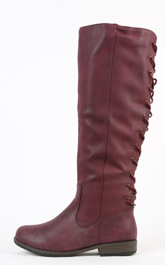 Bamboo montana and more riding boots lace up bamboo boots oxblood lace