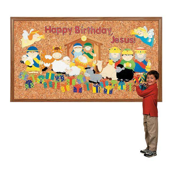"""DIY """"С Днем Рождения, Иисус"""" Bulletin Board Set - Восточная Торговая"""