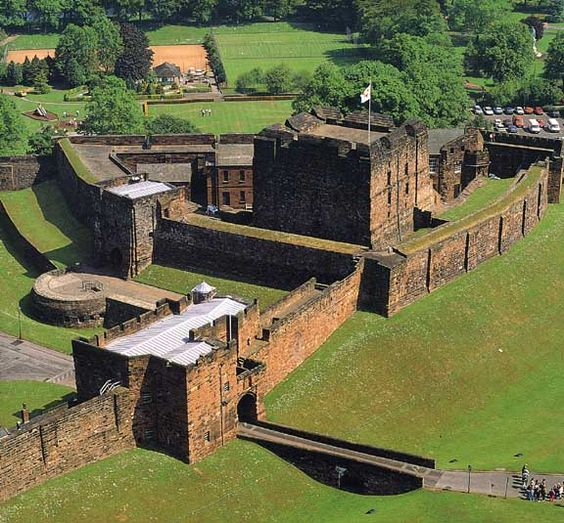 Carlisle Castle, Cumbria, England. Near the ruins of Hadrian's wall Carlisle Castle has stood for over 900 years and has been the scene of many historical episodes in British History.