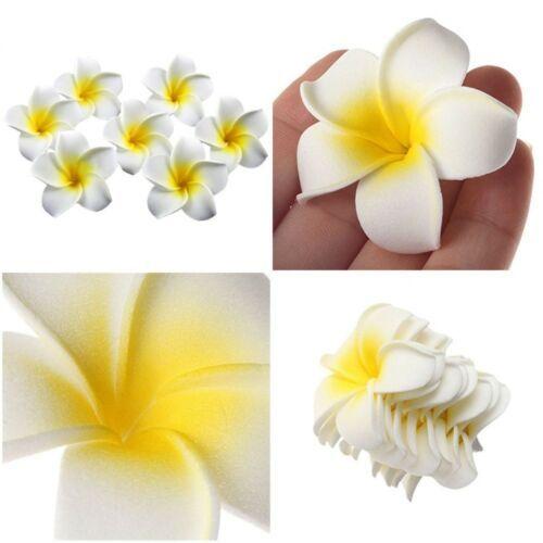 Artificial Plumeria Foam Flower Wedding Party Home Decor White Yellow 25pcs 2 8 034 Foam Flowers Foam Roses Rose Flower