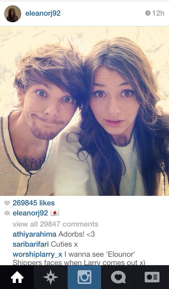 Louis Tomlinson and Eleanor Calder | Twitter, Instagram ...