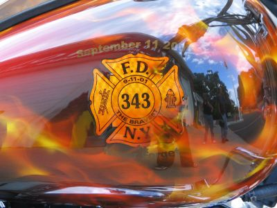 Sept 11, 2001 Firefighter Memorial Harley Davidson Bike