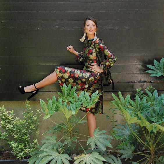 Fall CR dress as seen in Charleston Magazine.