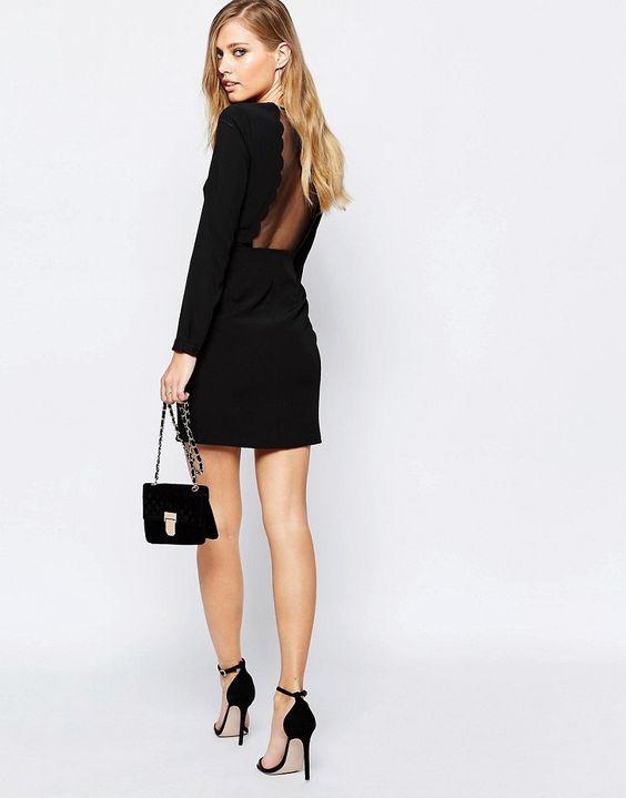 Vestito smerlato nero