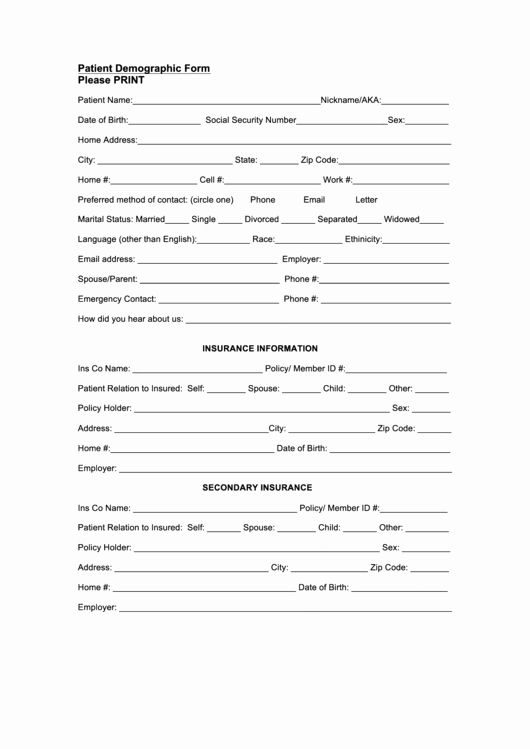 30 Patient Information Sheet Template In 2020 Templates