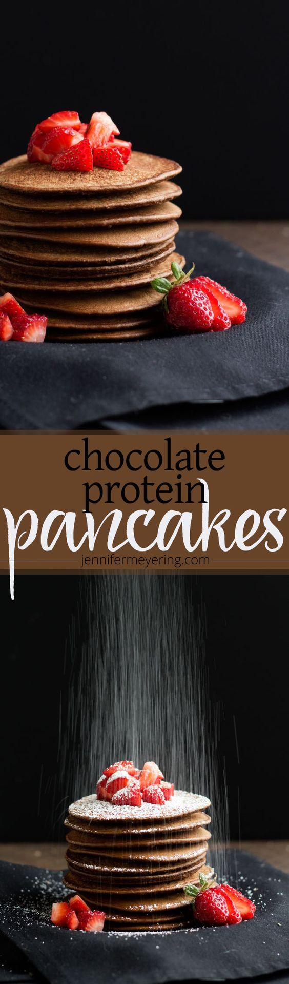Chocolate Protein Pancakes -- JenniferMeyering.com #BestLifeProject #ad