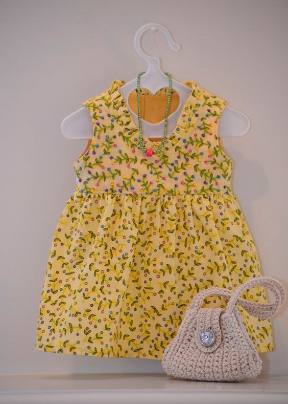 American Girl Doll clothing. Scoop Neck Dress Ensemble by Simply 18 Inches.