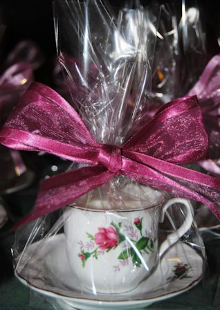 Set of 40 victorian rose tea cup candle favors custom for Victorian tea party favors