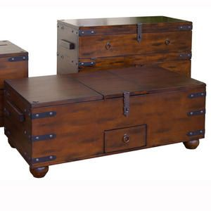 Old world coffee table trunk living room for under 500 for Best coffee tables under 500