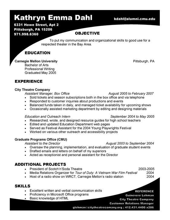 Love this landscape resume format! Great stuff Resume Design - landscape resume