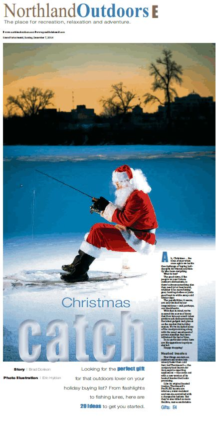 Santa ice fishing :)