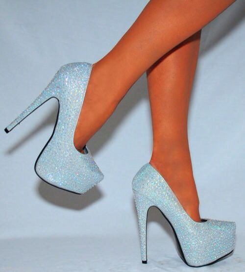 Baby blue sparkle heels | Fashion and Shoes ❤   | Pinterest ...