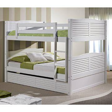 Lit superpos 2 personnes blanc id es chambre coucher pinterest - Ikea lit superpose blanc ...