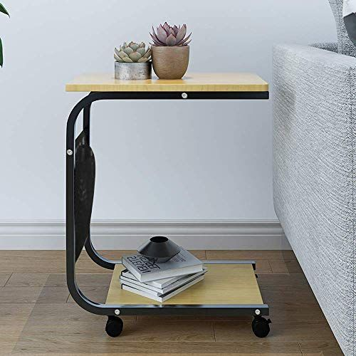 Homesailing Small Table Beside Sofa Bed Couch Table On Wheels For