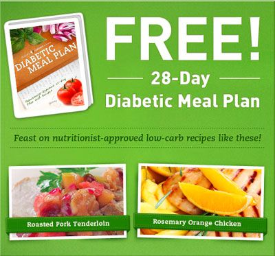 Free 28-Day Diabetic Meal Plan from Alliance Health | Freebies Dip ...