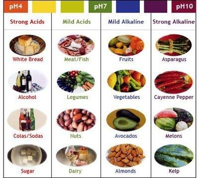 Awesome chart showing alkaline and acid foods. You want to eat as much alkaline as possible!   www.tomcorsonknow...
