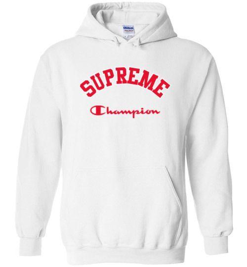 new arrival 1153a 83e1d Supreme x Champion Unisex Hoodie | p0leras supreme en 2019 ...