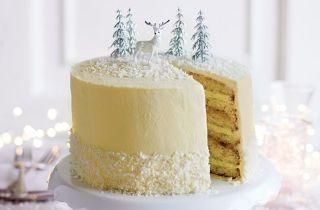Christmas baking: White Christmas limoncello cake
