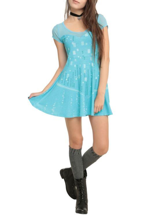 Dress from Disney's Frozen with an Elsa costume design.