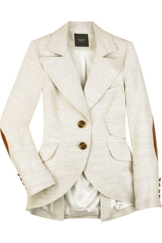 Smythe Linen Silk Equestrian Jacket - $695