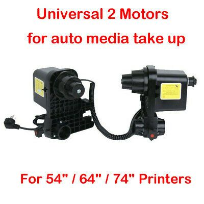 Details About Auto Media Take Up Reel Paper Receiver 2 Motors For