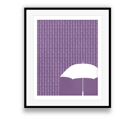 Purple Rain | Prince - Song Lyric Wall Art