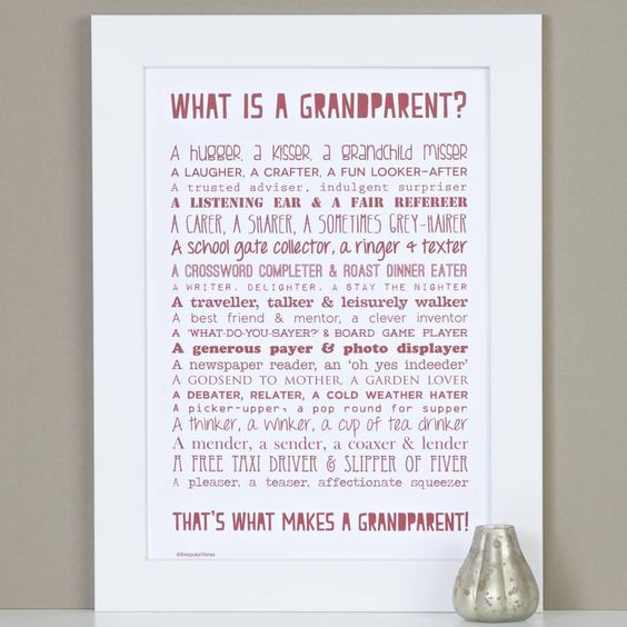Personalised Grandparent Print With Grandparent Poem