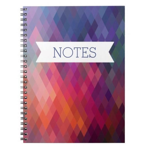 Colorful Abstract Notebook - Personalize